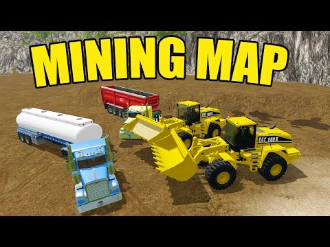 FARMING SIMULATOR 2017 | GOLD MINING! | HUGE CAT WHEEL LOADERS | DIGGING DIRT