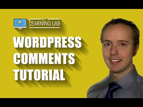 WordPress Comments Tutorial | WP Learning Lab
