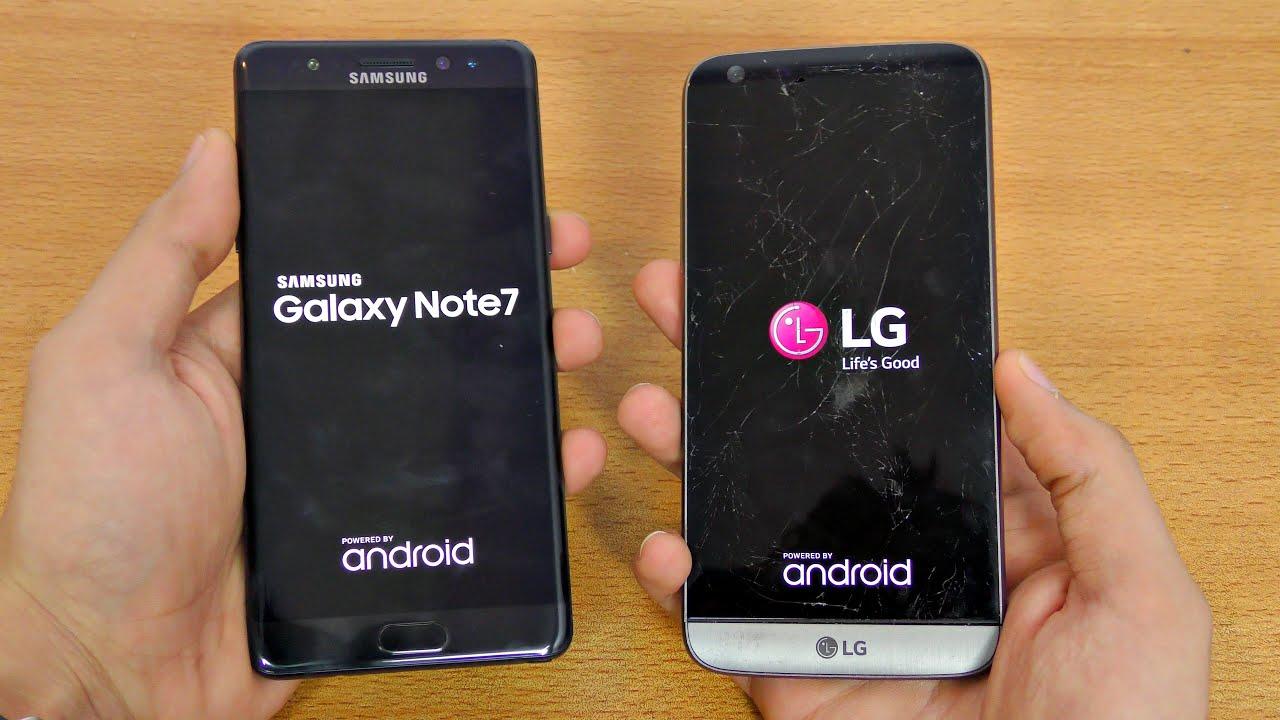 Samsung Galaxy Note 7 vs LG G5 - Speed Test! (4K)