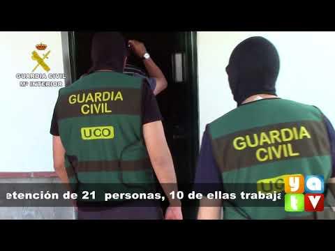 La Guardia Civil desarticula un grupo criminal formado por varios trabajadores del Puerto de Algecir