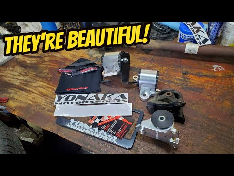 EK Civic Gets Some Beautiful Yonaka Aluminum Motor Mounts! (B16 Swapped EK Civic)