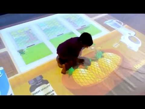 Interactive Floor projection in Kids Zone