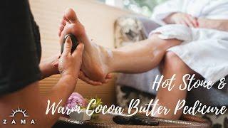 Hot Stone & Warm Cocoa Butter Pedicure