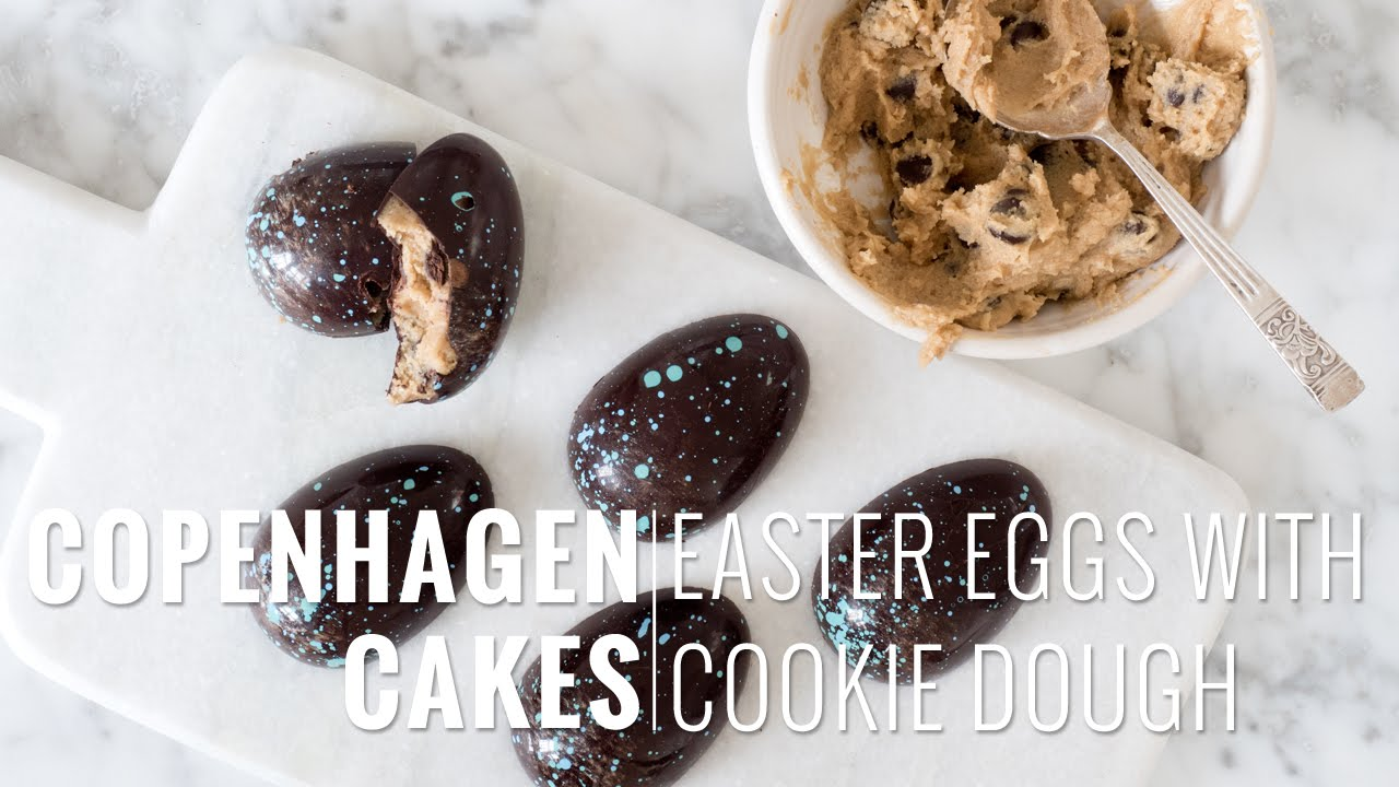 COOKIE DOUGH EASTER EGGS - How to make the prettiest chocolate ...