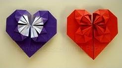Origami Herz falten - Basteln mit Papier - DIY Geschenkideen Geburtstag / Muttertag selber machen