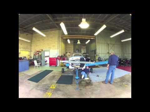 Grumman Yankee AA-1B Wing Installation