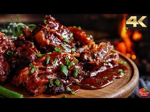 ASMR BBQ Ribs  DANGEROUS to Watch!
