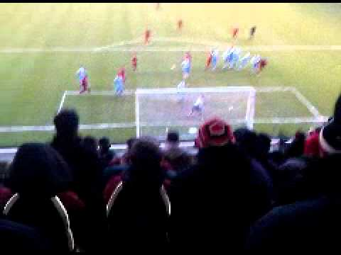 Walsall 2-4 Huddersfield. Matt Richards Free Kick