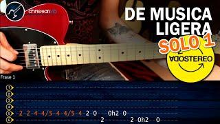 Como tocar De Música Ligera SOLO 1 | Tutorial Guitarra Electrica