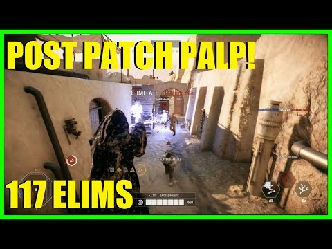 Star Wars Battlefront 2 - TRYING THE POST PATCH PALPATINE! | HE IS STILL GREAT! (100 elims)
