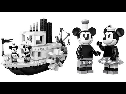 LEGO official Mickey Mouse Steamboat Willie set revealed!