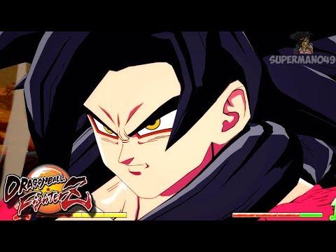 GOKU SUPER SAIYAN 4 DRAGON FIST! - Dragon Ball FighterZ: GT Goku, SSJ Goku & SSGSS Goku