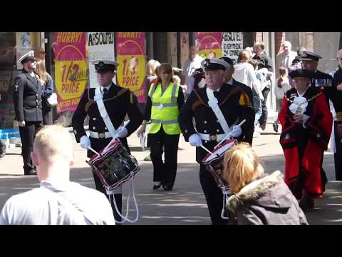 Falklands War - 35th Anniversary Commemoration March Past - Gosport 21th May 2017