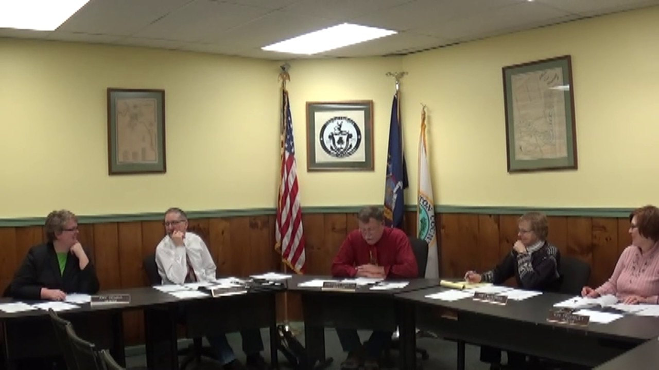 Champlain Village Board Meeting  12-12-16