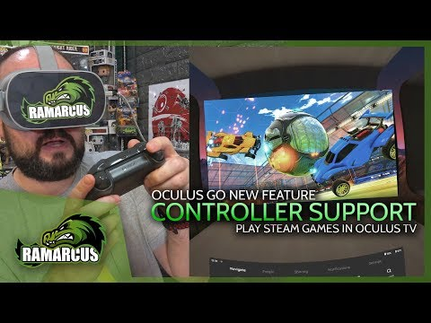 Oculus Go // Controller Support in Oculus TV / Play Steam Games!