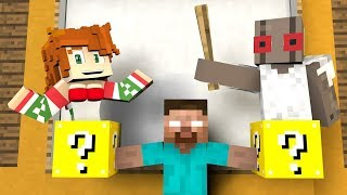 ✅ Monster School : LUCKY BLOCK - DRAWING - DANCING - GRANNY vs BALDI - TOP 5  - Minecraft Animation