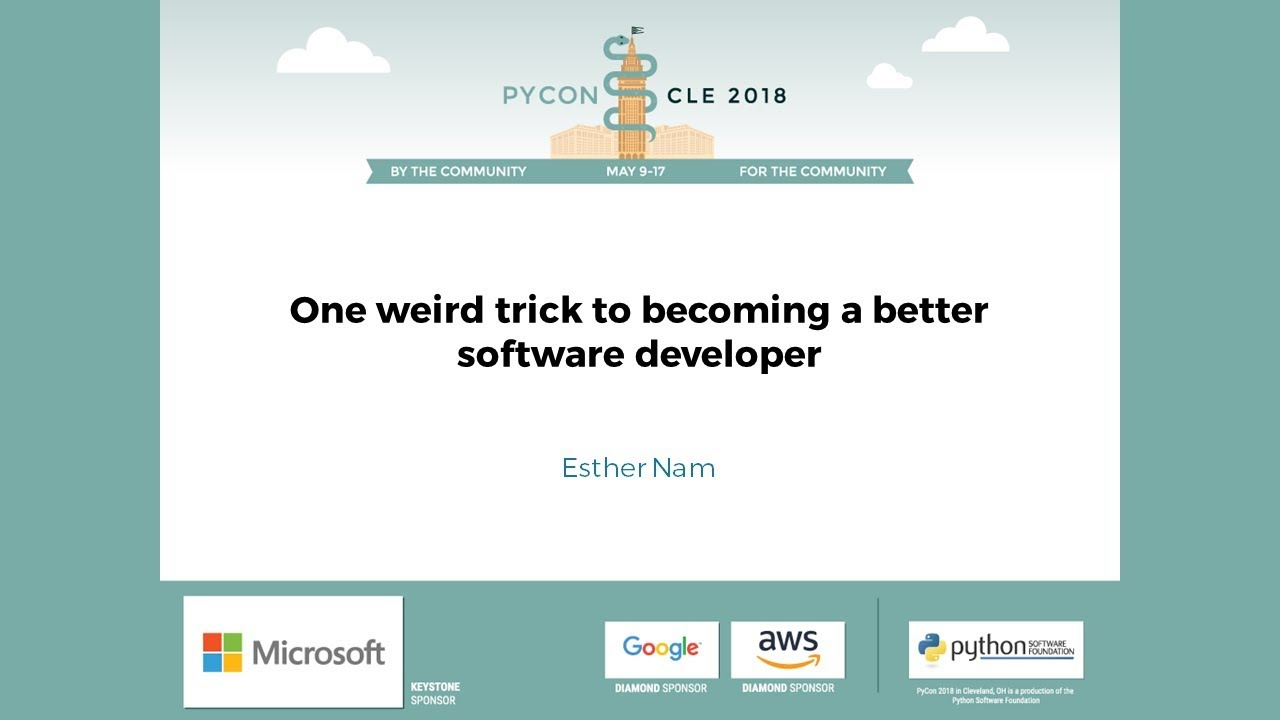 Image from One weird trick to becoming a better software developer