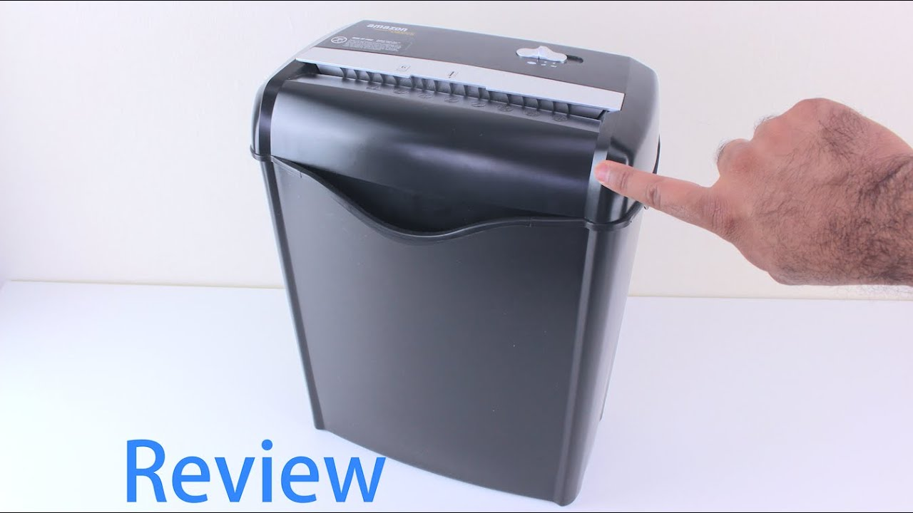 amazonbasics 6 sheet cross cut paper and credit card shredder review