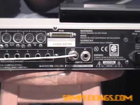 AKAI MPC2000 XL Instructional DVD 2 Lesson 1: sync with smpte