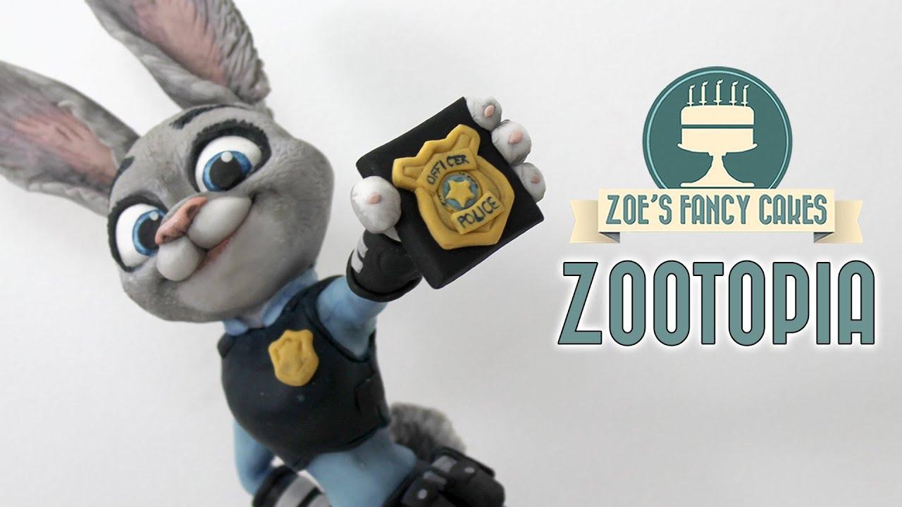 Zootopia Judy Hopps Cake Model Zootropolis Youtube