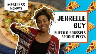 Buffalo Brussels Sprout Pizza l Meatless Monday-Jerrelle Guy