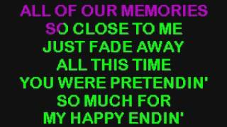 SC2464 07 Lavigne, Avril My Happy Ending [karaoke]