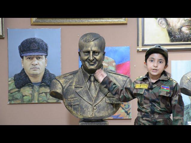 Agacanlı Zəminə  Şəhid General Polad Həşimovu ziyarət etdi