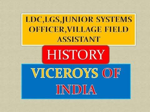 VICEROYS OF INDIA|PSC|SSC|LDC|LGS|CGL|VILLAGE FIELD ASST