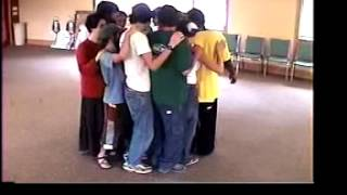 Trust Circle Sit team building exercise