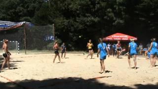 ФИНАЛ женского чемпионата по  пляжному гандболу 2014