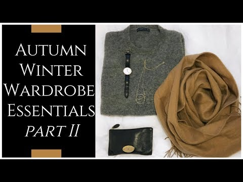 AUTUMN/FALL WINTER WARDROBE ESSENTIALS PART 2 | INSPIRED BY IDA |