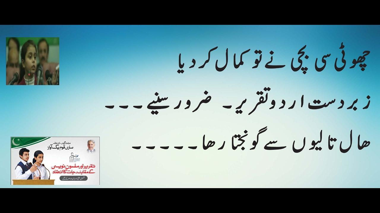 Urdu best speech Term paper Sample - followthesalary com