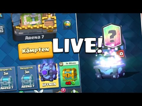 Mit EUCH Clash Royale Zocken / Turniere + Road to 3500 Abos! Clash Royale deutsch Livestream