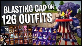 Blasting Cap Back Bling on 126 Outfits - Fireworks Team Leader - Fortnite Cosmetics