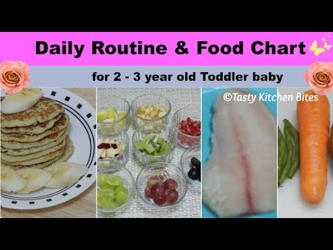 daily routine food chart for 2 3 year old toddler baby l