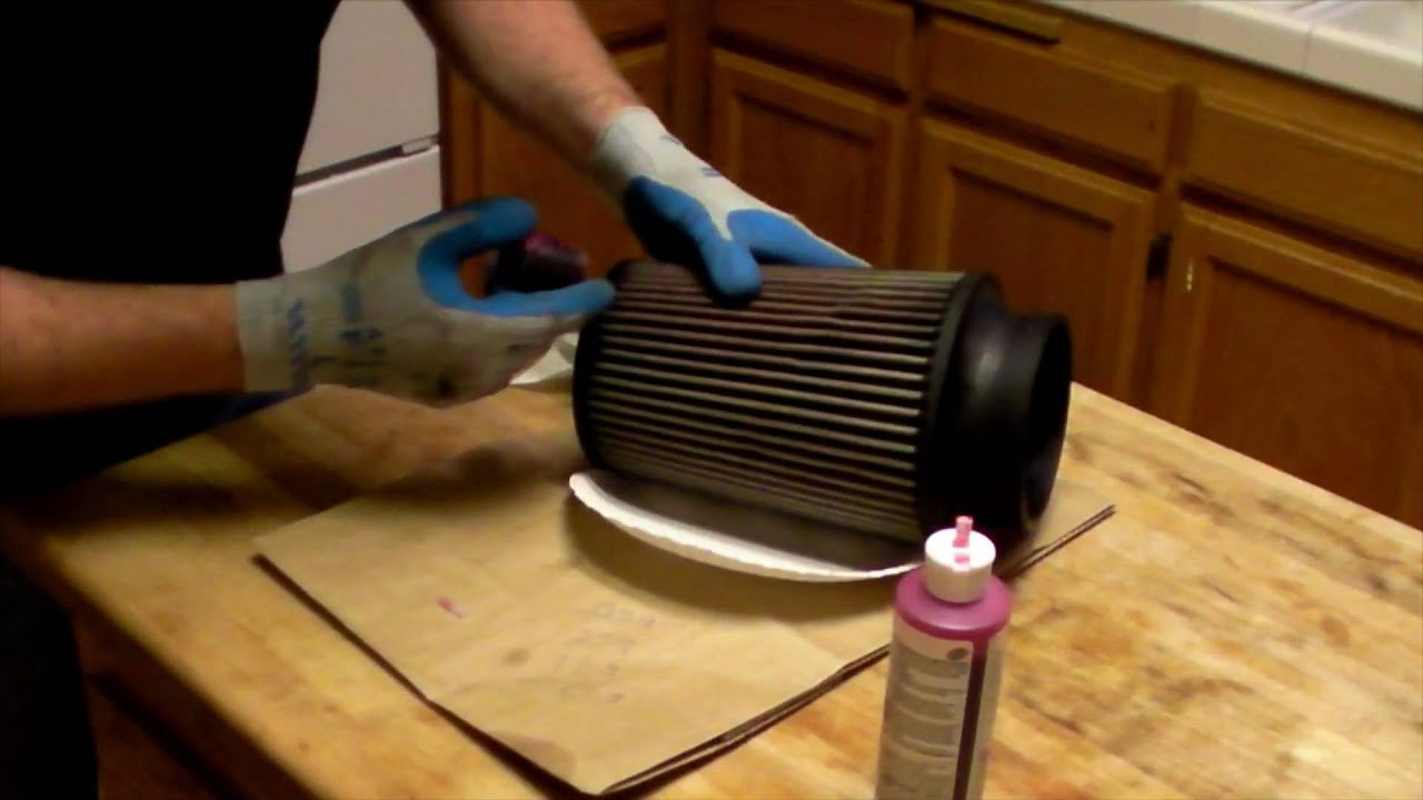 how to clean and oil a k n s b air filter youtube. Black Bedroom Furniture Sets. Home Design Ideas