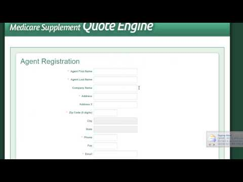 Medicare Quote Engine Registration