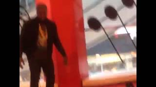Kim and Kanye West playing the Big Piano @FAO Schwarz