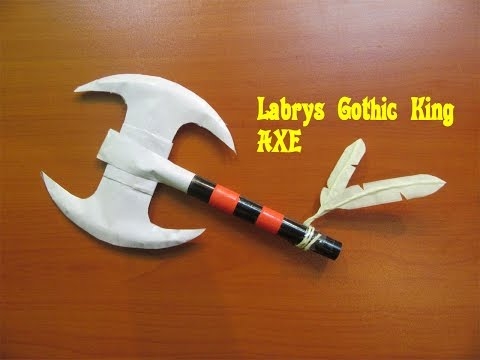 How to Make a  Paper Axe (Labrys Gothic King) - Easy Tutorials