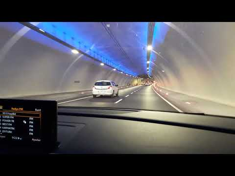 Istanbul - driving through the eurasia tunel from Europe to Asia under the sea