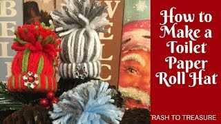 Christmas Crafts: Toilet Paper Roll Winter Hat Ornaments