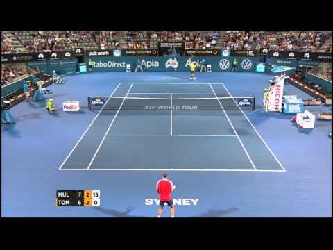 Gilles Muller v Bernard Tomic highlights (QF) - 2015 Apia Sydney International