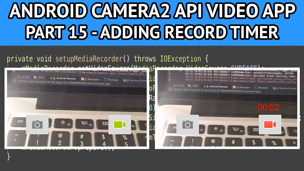 android video app adding record timer - Nige's App Tuts