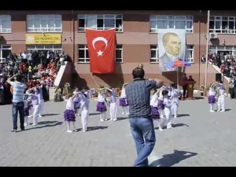 23 Nisan Gösterisi Mavili Mor  çiçek