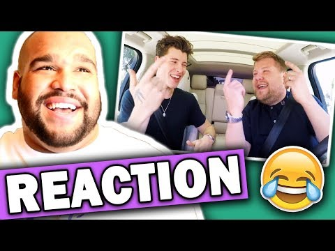 Shawn Mendes Carpool Karaoke (#LateLateShawn) REACTION
