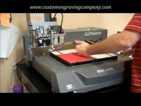 Creating ADA sign with Roland EGX-400 - CUSTOM ENGRAVING COMPANY