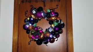 "Valery Madelyn 20"" Pre-Lit Halloween Decoration Wreath"