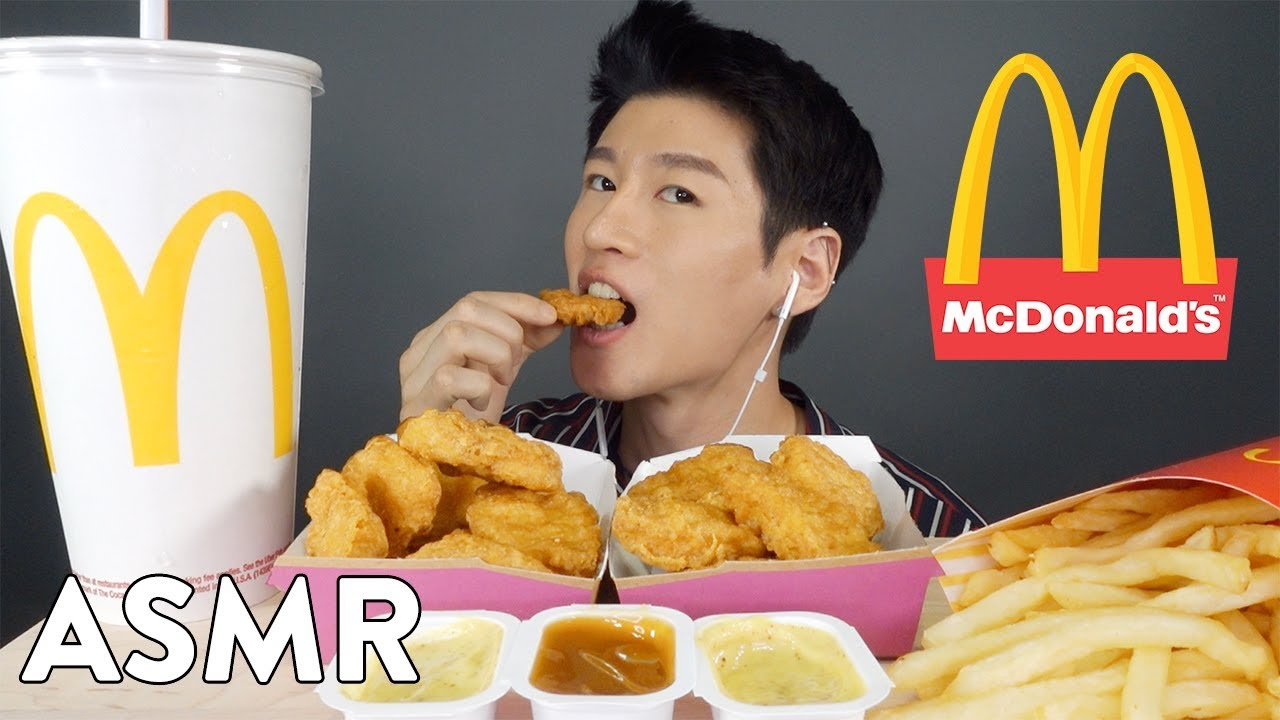 Asmr Mcdonalds Chicken Mcnuggets Fries No Talking Eating Sounds Zach Choi Asmr