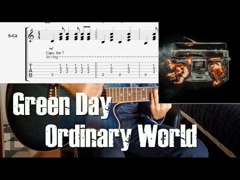 Como Tocar Ordinary World Green Day Guitar Tutorial Youtube