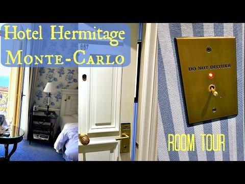 HOTEL HERMITAGE Monte Carlo ROOM TOUR - Monaco Travel
